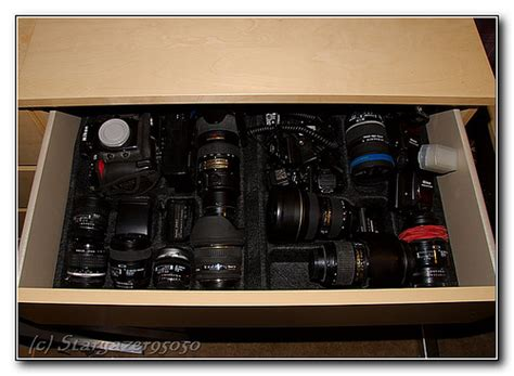 arrange your photo gear in a cutlery tray diy photography