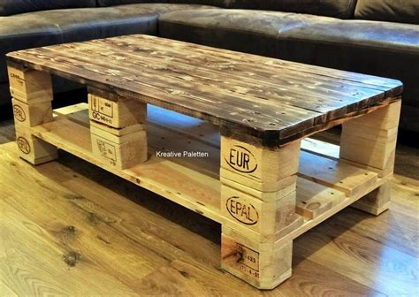 How To Make A Coffee Table From Pallets Pallet Wood Coffee Table 99 Pallets