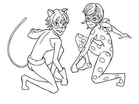 imagenes para pintar de lady bug dibujos para imprimir y colorear de ladybug y cat noir