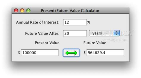 present future value calculator mac