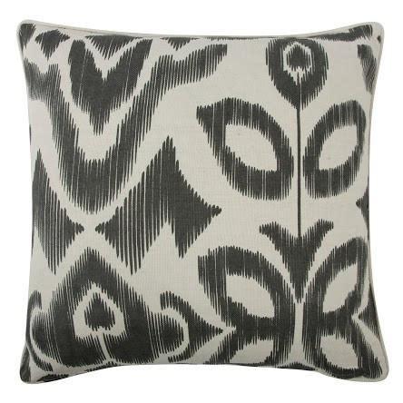Kulot Tenun Ikat Desain 22 ikat 22 quot reversible pillow in charcoal design by paul burke decor