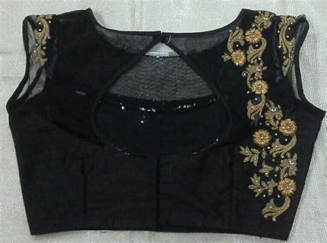 boat neck black blouse black boat neck blouse with maggam work