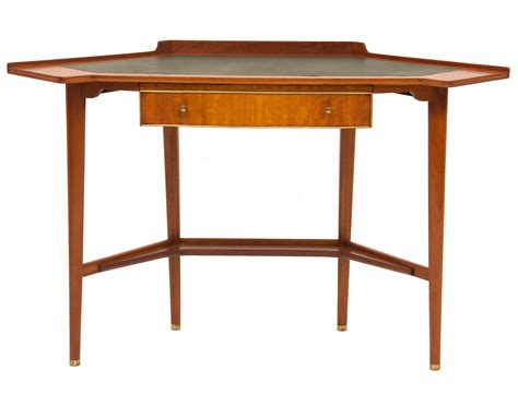 vintage corner desk vintage corner desk in wood and brass design market