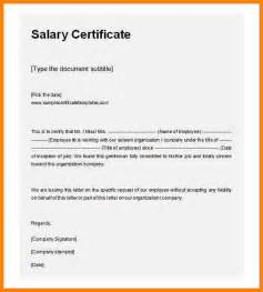 wage agreement template doc 9061284 salary certificate form differences