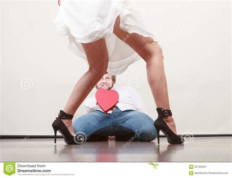 Heels Valent In with shaped gift box for stock image