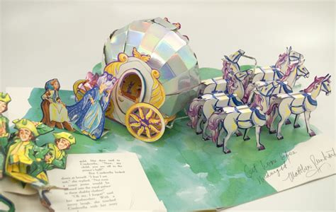 libro cinderella a pop up fairy cinderella bowdoin library harold m goralnick pop up book collection