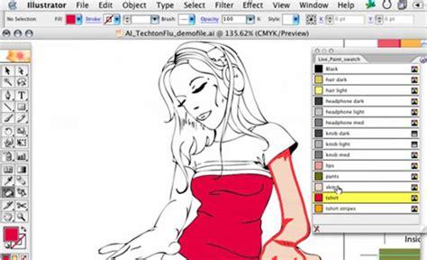 illustrator tutorial live paint adobe illustrator tutorials illustrator cs4 tutorials