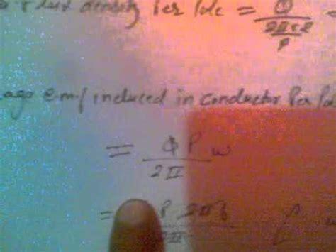 emf equation of motor emf equation of d c motor