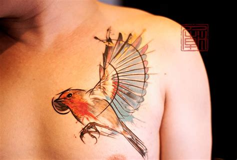 watercolor tattoo hong kong mixs bird wang temple hong kong websm ink