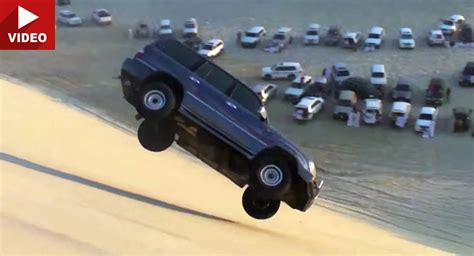 toyota land cruiser dune jump what could possibly go wrong
