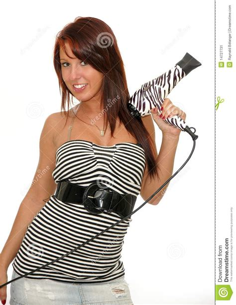Hair Dryer Emoticon with hair dryer stock image image 14727731