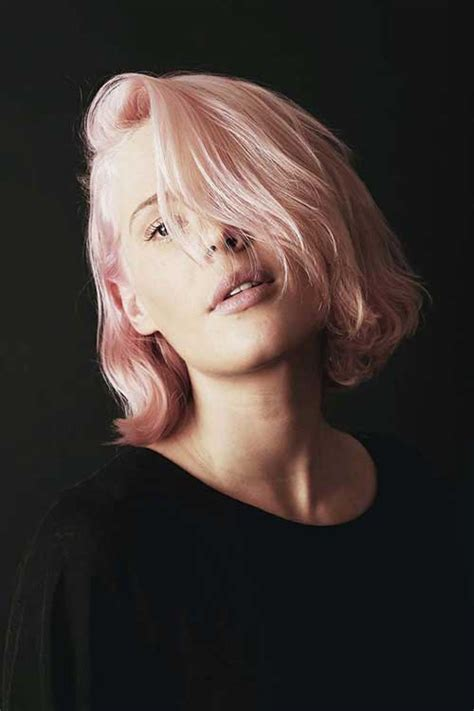 blonde bob pink 30 best haircuts for short hair short hairstyles 2017