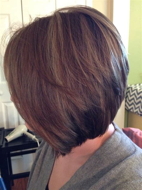 nverted bonforhick hair inverted bob low lights hi lights short hairstyle 2013