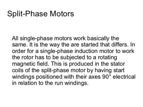 single phase induction motor pdf understanding split phase induction motors