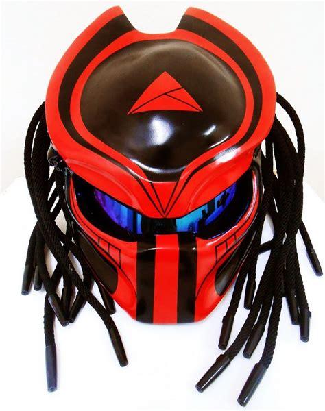 motocross helmet skins predator biker motorcycle helmet airbrush mask size l