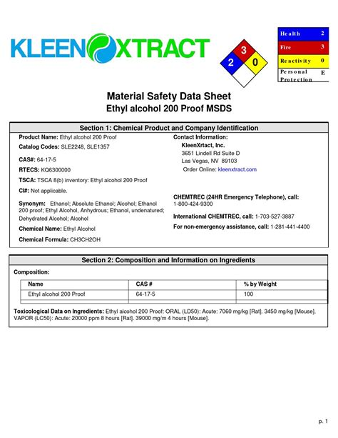 msds section 3 msds kleenxtract by kleen xtract issuu