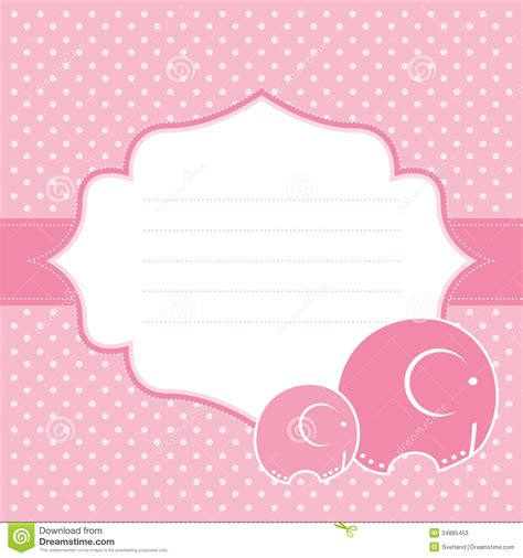 baby announcement cards free template baby announcement card vector illustration stock