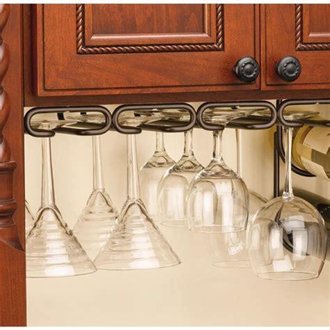 under cabinet wine glass holder rev a shelf 1 5 in h x 17 in w x 11 in d oil rubbed
