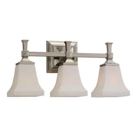 Nickel Bathroom Lights Shop Sea Gull Lighting 3 Light Melody Brushed Nickel Bathroom Vanity Light At Lowes