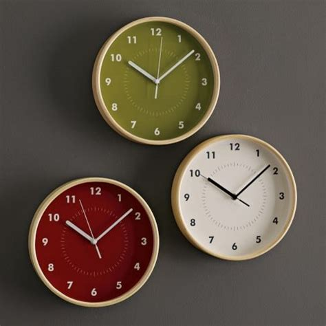 simple wall clock simple wood wall clock contemporary clocks