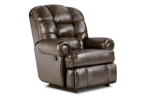 man reclining big man leather recliner at gardner white