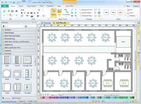 event layout maker seating plan software