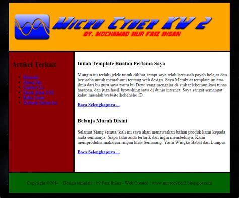 cara membuat web html dengan notepad lengkap cara membuat template sederhana menggunakan notepad