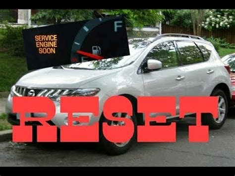 service engine soon light nissan murano how to reset service engine soon light on a 2009 nissan