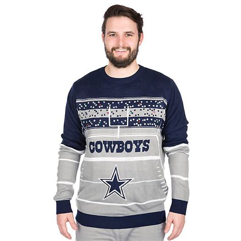 cowboys light up sweater gifts dallas cowboys pro shop