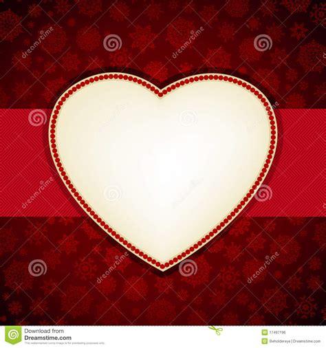 christmas heart frame card template eps  royalty