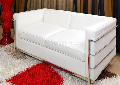 le corbusier sofa set le corbusier style grande sofa loveseat chair set in white