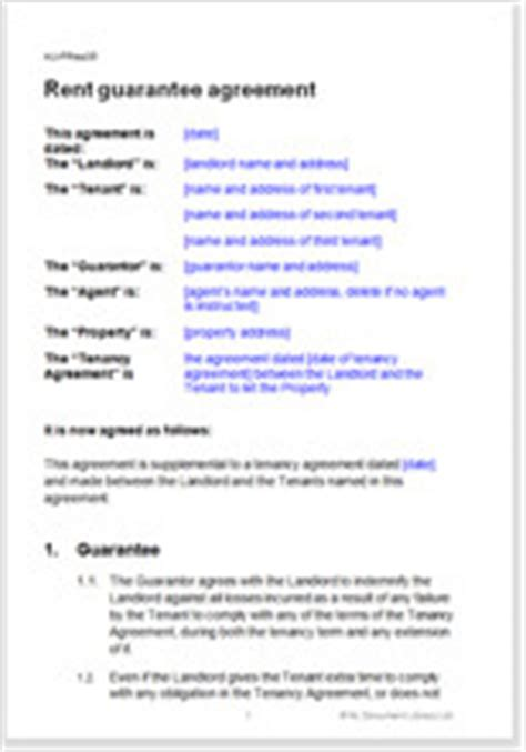 Letter Guarantor Rent Australia Free Rent Guarantee Agreement For A Residential Tenancy