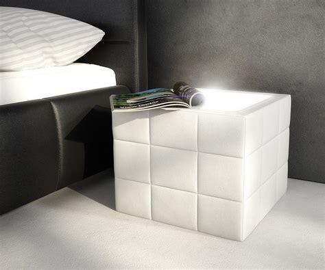 Nachtschrank Mit Beleuchtung by Delife Nachtkonsole Nuncia Weiss 41x41 Cm Kaufen Otto