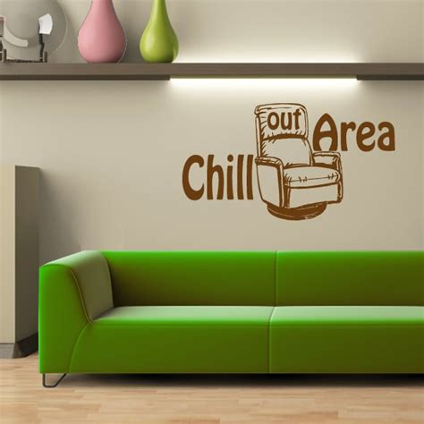 chill out area wandtattoo