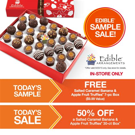 edible arrangements printable job application free 7 piece salted caramel banana apple fruit truffles