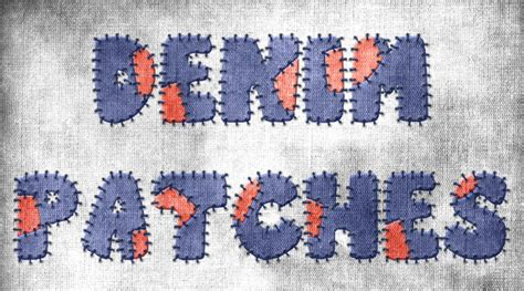 Patchwork Effect - photoshop tutorial denim patchwork text effect graphix1
