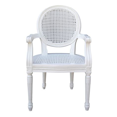 white rattan armchair chateau white rattan dining bedroom arm chair