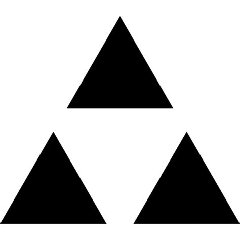 what shape is upstide down triangel triple triangle icons free download