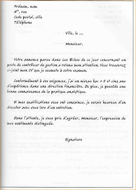Lettre De Motivation Lettre Spontanée lettre de motivation classique lettre formelle mod 232 le jaoloron