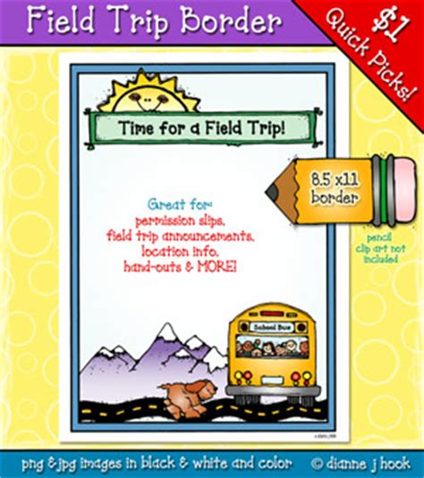 field trip clip art border by dj inkers dj inkers