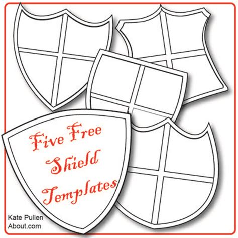 cardboard shield template free shield templates for diy who knew shields could be