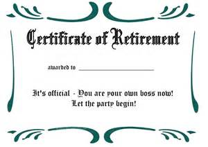 retirement certificate template free printable certificates and awards to include in your