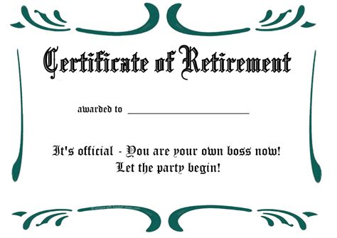 free printable retirement card template printable retirement certificate2 professional and high