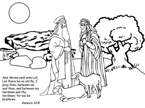 Coloring Page Of Abraham And Lot | 12 best images about bible abraham and lot on pinterest