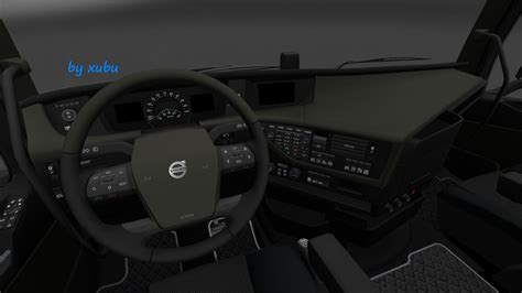 volvo 2012 black orange interior ets 2 mods volvo fh 16 2012 olive v1 0 interior euro truck simulator