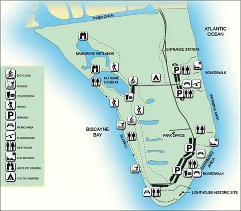 florida state parks map bill baggs cape florida state park florida state parks