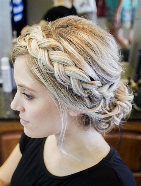 Braided Updo Hairstyles by 25 Best Ideas About Braided Updo On Simple
