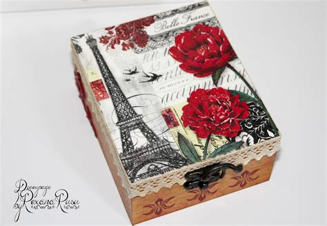 Decoupage Picture - vintage le tour eiffel decoupage box decoupage