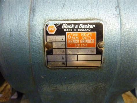 black and decker 6 inch bench grinder black decker hd1245 heavy duty bench grinder 1st machinery