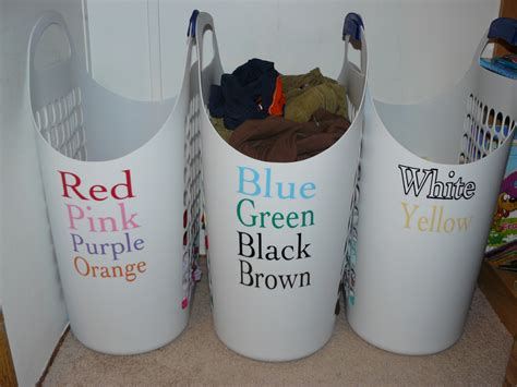 Laundry Solution Label With Colors So It S Easy For Kids Sorted Laundry